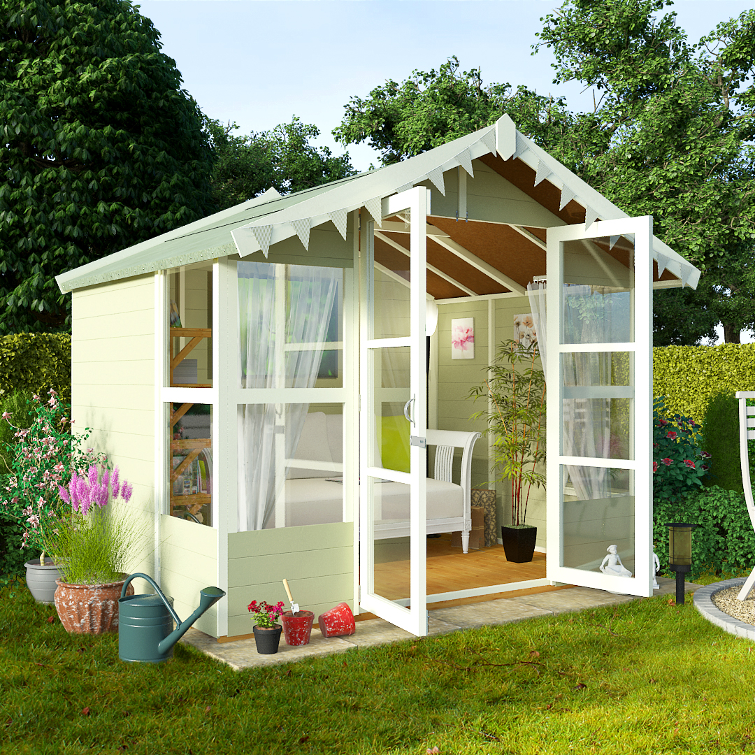 BillyOh 8 x 8 Lucia Tongue and Groove Garden Summerhouse 4000 Range