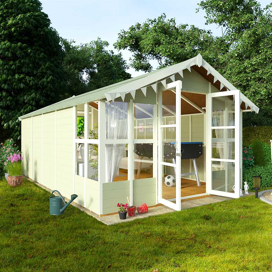 BillyOh 16 x 10 Lucia Tongue and Groove Garden Summerhouse 4000 Range