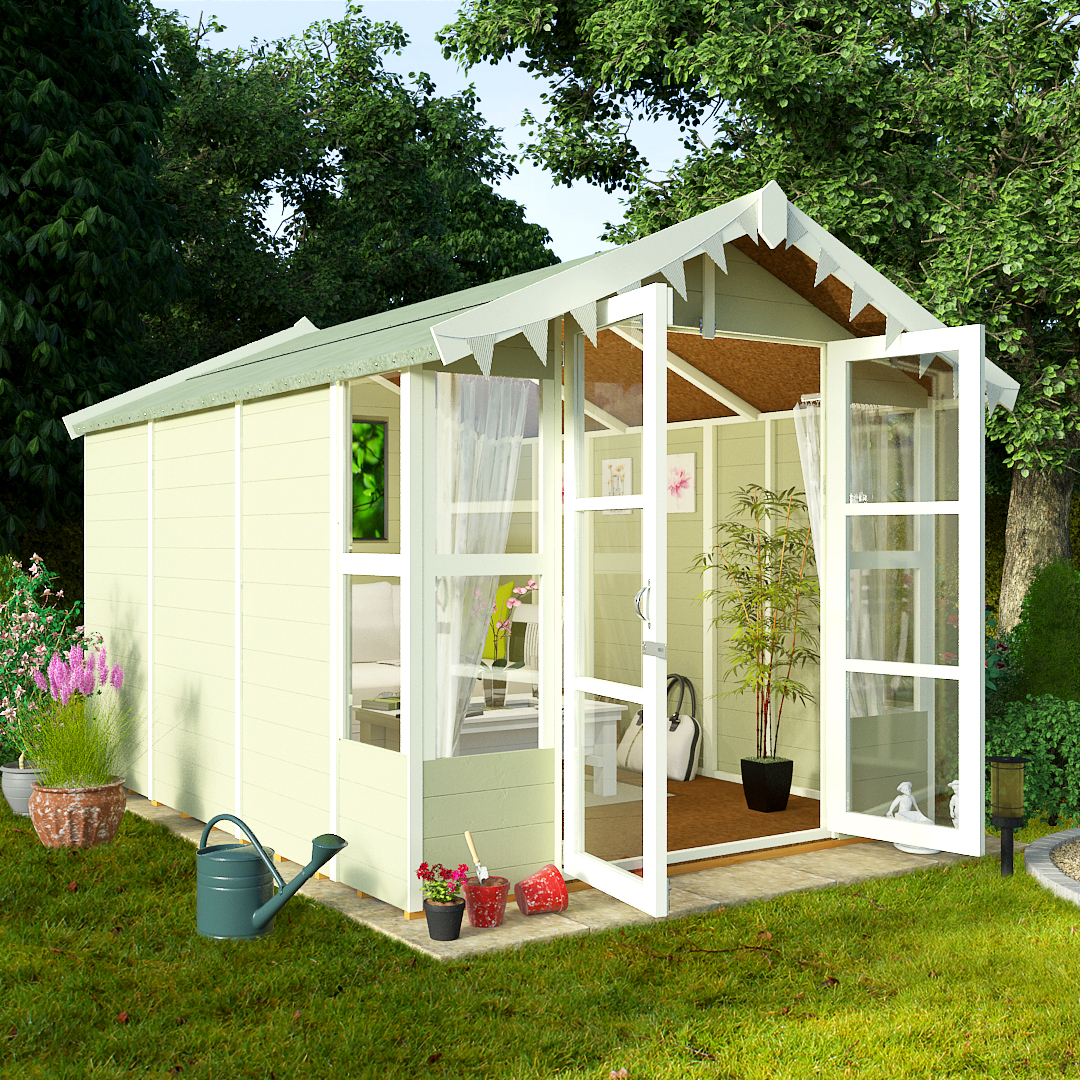 BillyOh 10 x 8 Lucia Tongue and Groove Garden Summerhouse 4000 Range