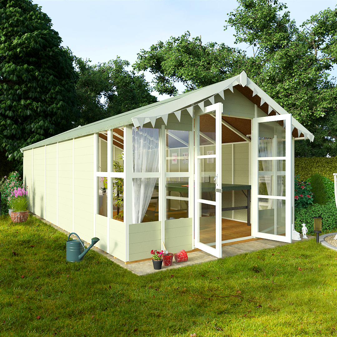 BillyOh 20 x 10 Lucia Tongue and Groove Garden Summerhouse 4000 Range