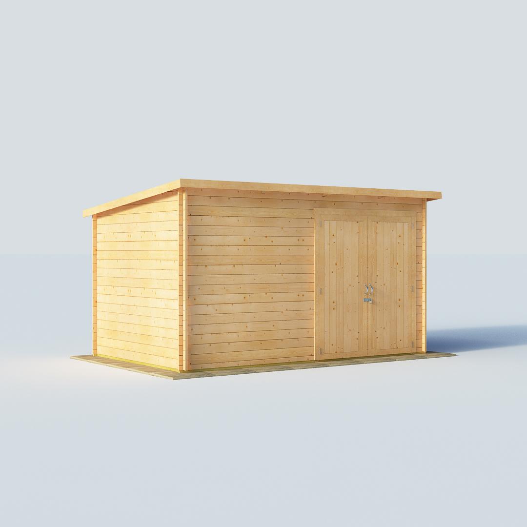BillyOh 12 X 8 28mm Pent Log Cabin Windowless Heavy Duty
