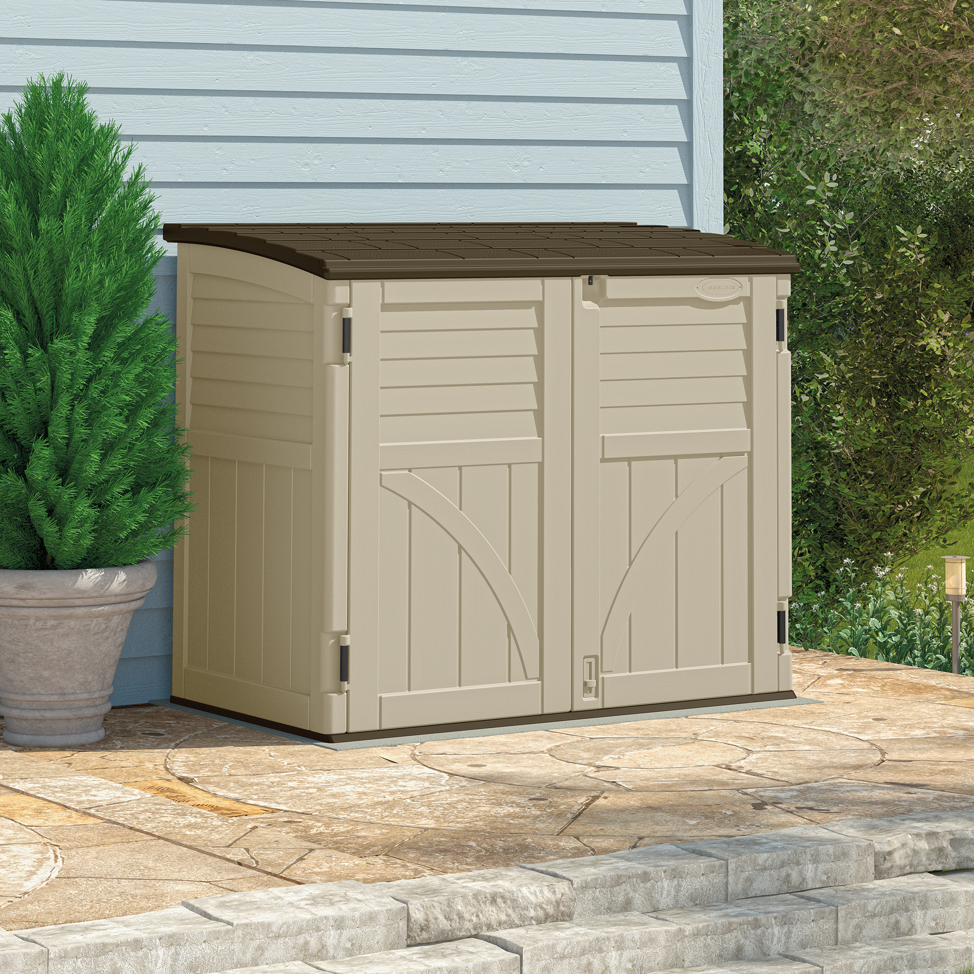 Plastic sheds for sale buy plastic garden shed uk for Small outdoor sheds for sale