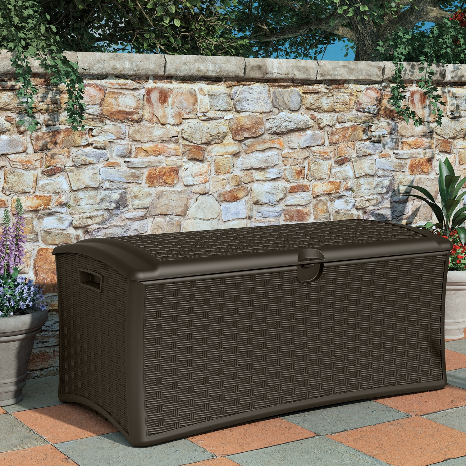 Image of BillyOh Suncast 265 litre Deck Box Plastic Storage Bench