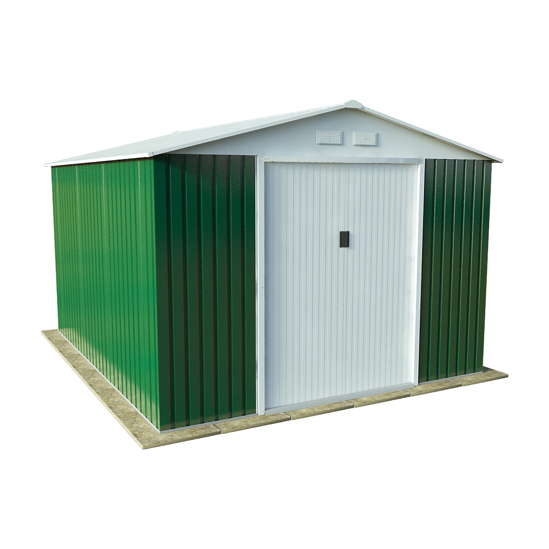 BillyOh Archer 10 x 9 Galvanised Steel Metal Garden Sheds