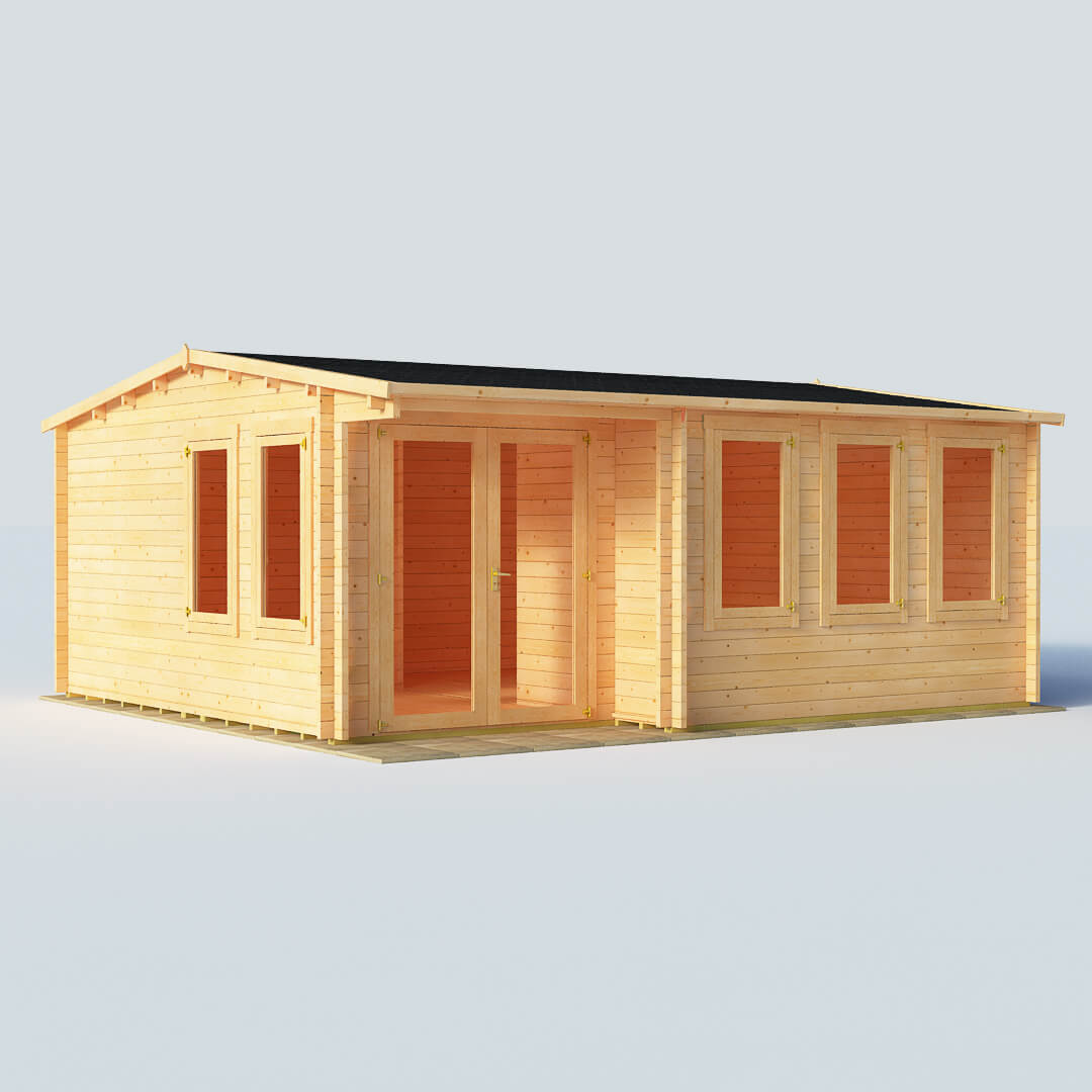 BillyOh Kent Log Cabin Office W5.5m x D5.0m 44mm