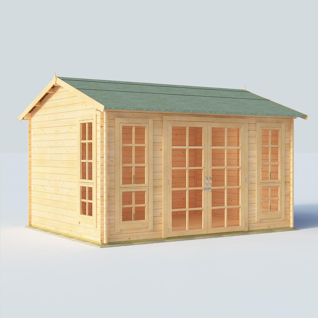 BillyOh Riley 12 x 10 28mm Georgian Log Cabin Summerhouse