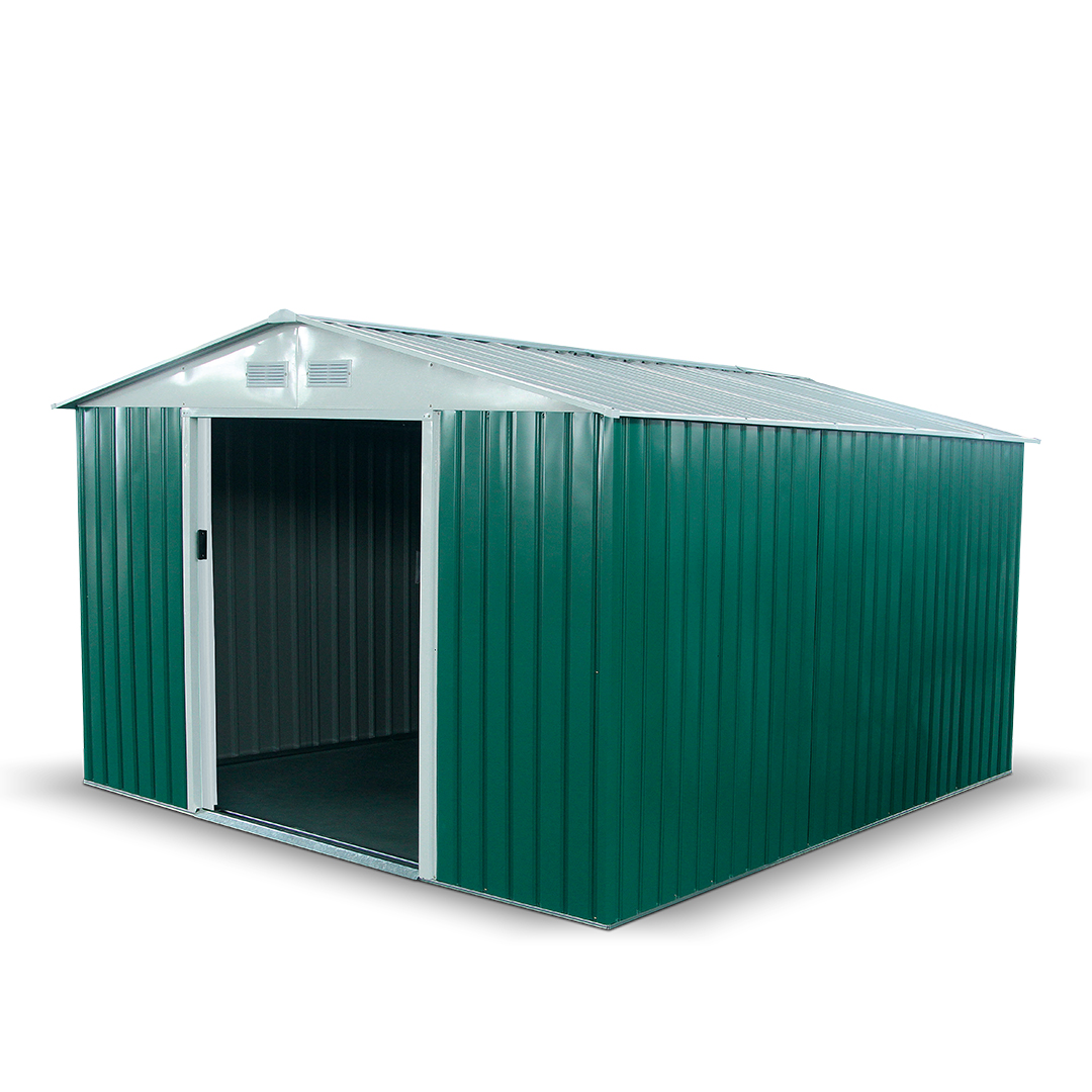 10x11 Apex Dark Green BillyOh Boxer Metal Garden Shed