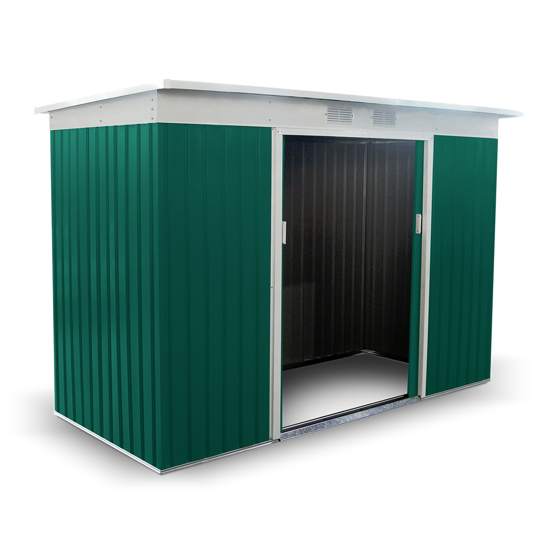 Buy cheap pent metal shed compare sheds garden for Cheap metal sheds