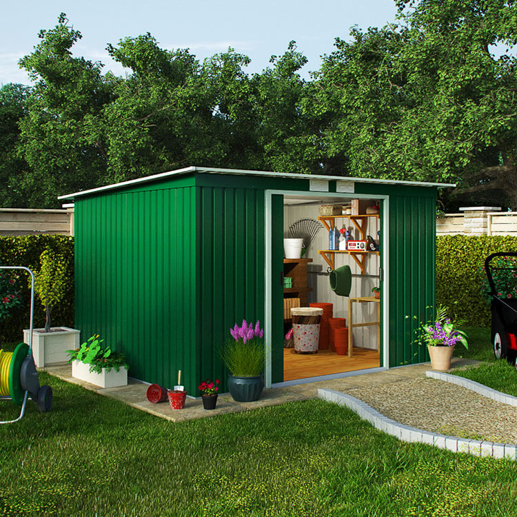 BillyOh Cargo Pent Metal Shed - 4 x 7 Cargo A