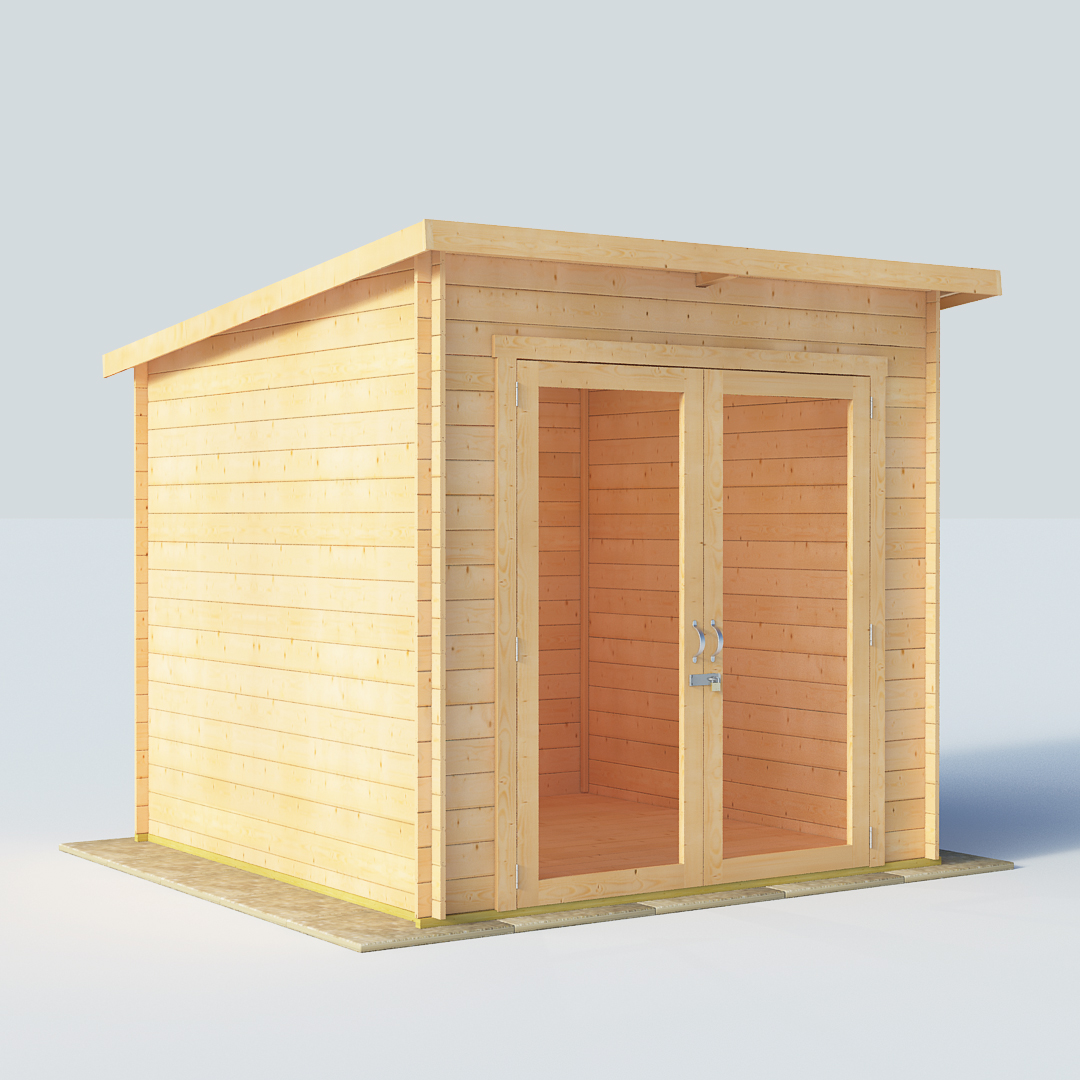 12x8 19mm TG Pent Windowless BillyOh Carmen Log Cabin Summerhouse
