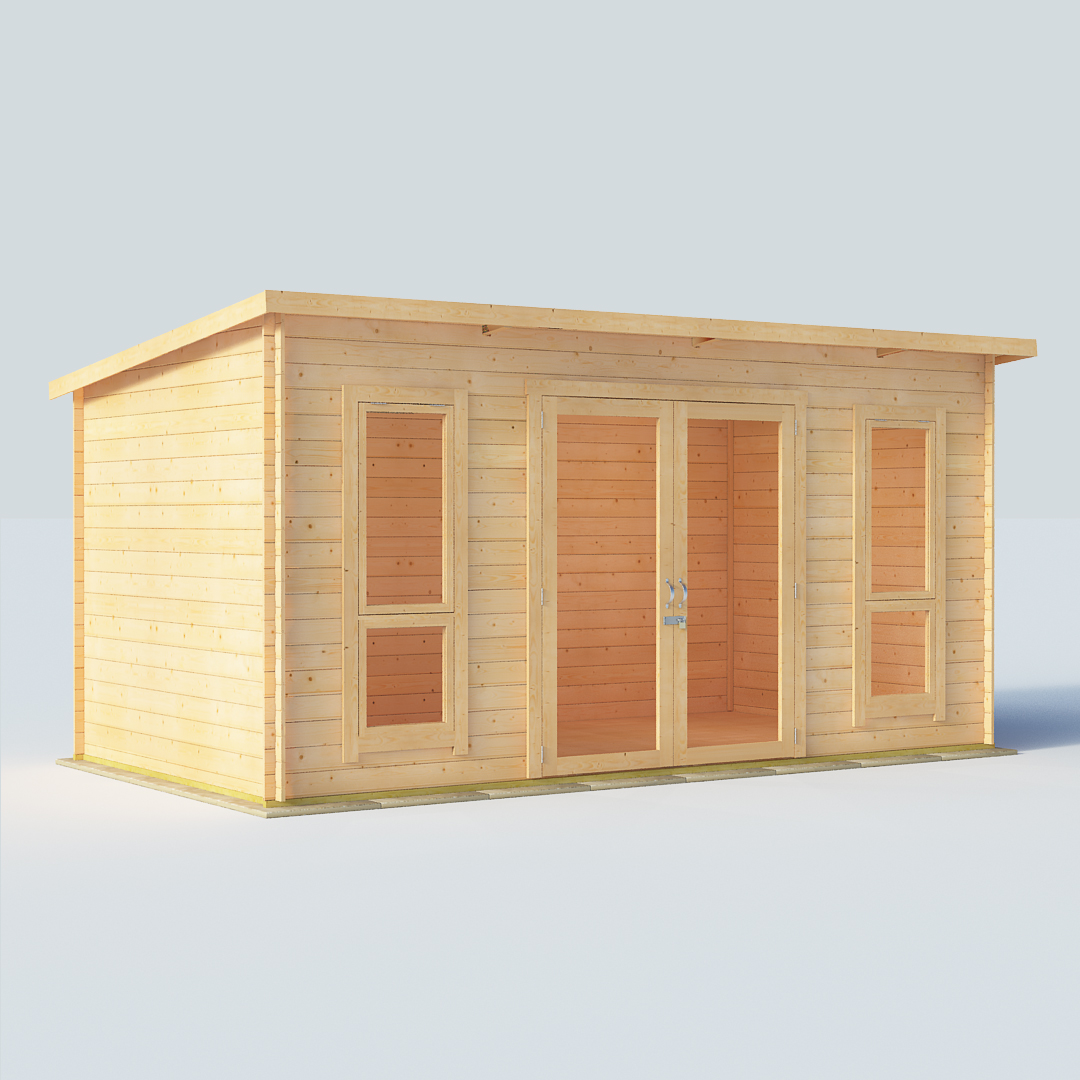14x8 19mm TG Pent Windowed BillyOh Carmen Log Cabin Summerhouse
