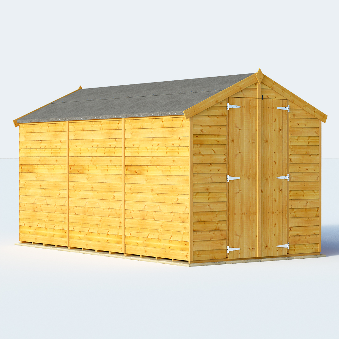BillyOh Keeper Overlap Apex Shed 6ft gables