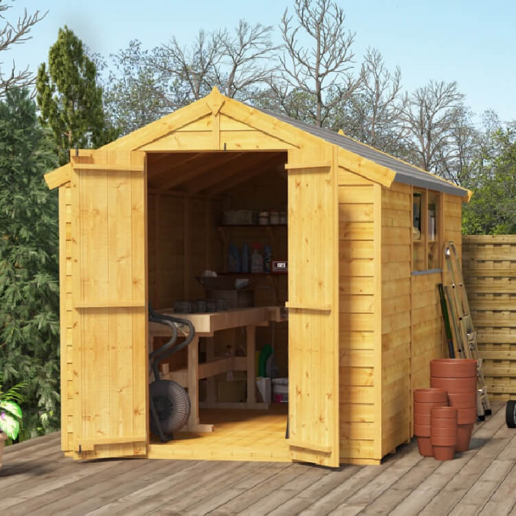 10x6 Overlap Apex Windowed BillyOh Keeper Garden Shed