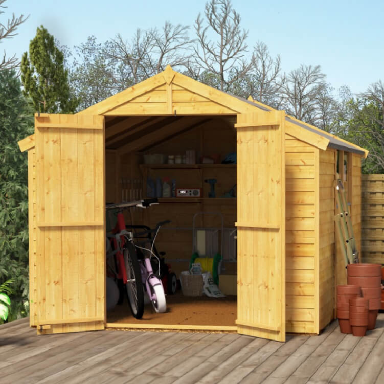 10x8 Overlap Apex Windowed BillyOh Keeper Garden Shed