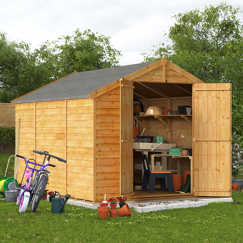 10x8 Overlap Apex Windowless BillyOh Keeper Garden Shed
