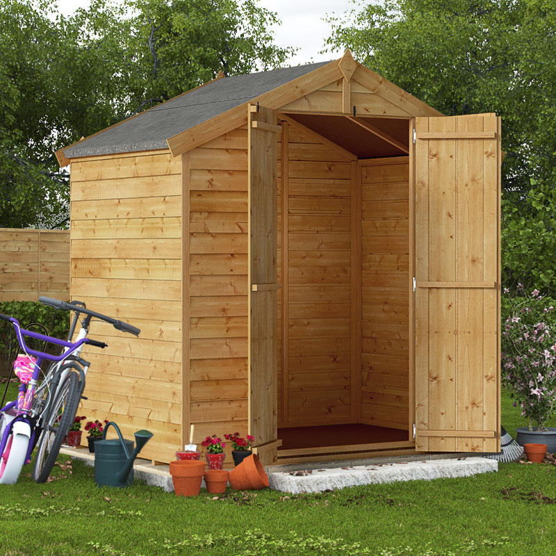 Garden shed 6 x 4 shop for cheap sheds garden for Apex garden sheds