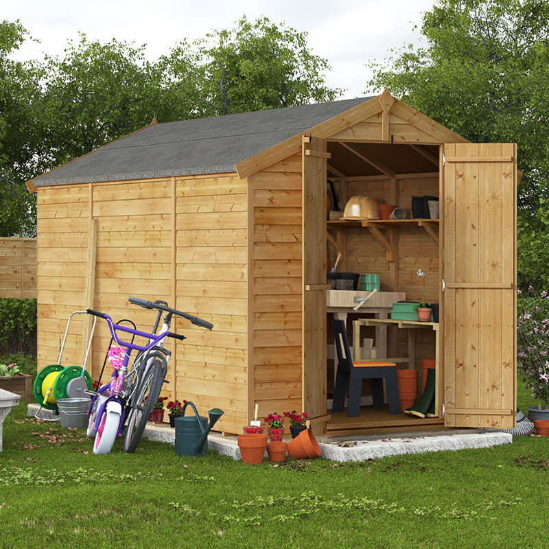10x6 Overlap Apex Windowless BillyOh Keeper Garden Shed