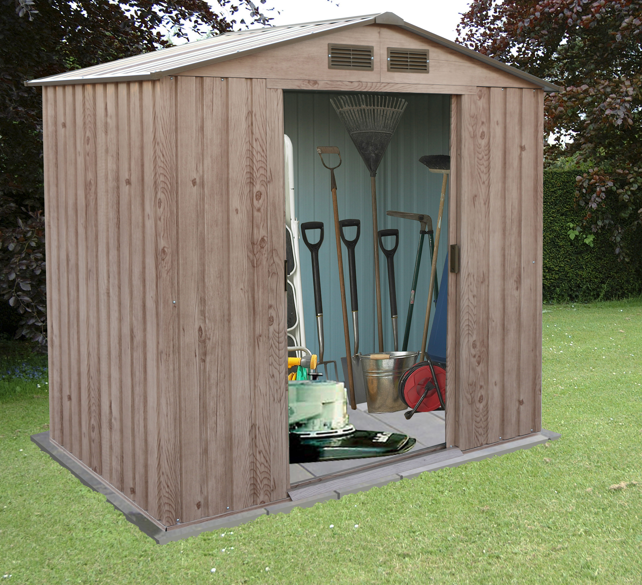 Buy cheap metal garden shed compare sheds garden for Affordable garden sheds