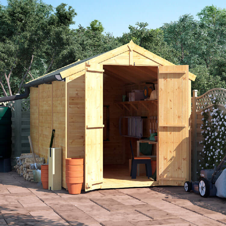 10x6 TG Apex Windowless BillyOh Master Garden Shed