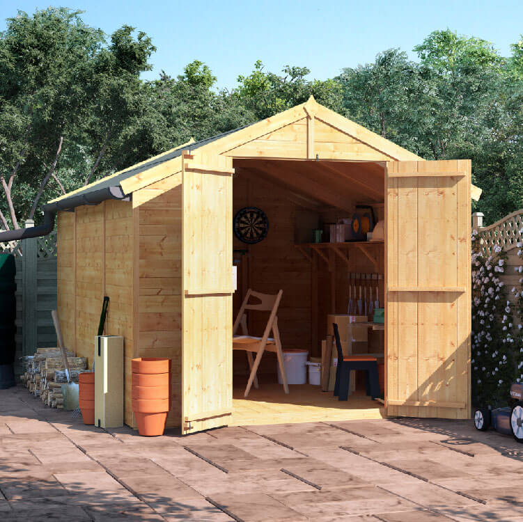 10x8 TG Apex Windowless BillyOh Master Garden Shed