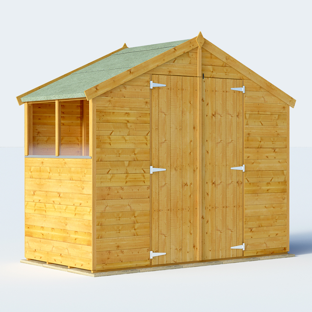 BillyOh 4 x 8 Master Windowless Tongue and Groove Apex Shed 6ft gables Windowed
