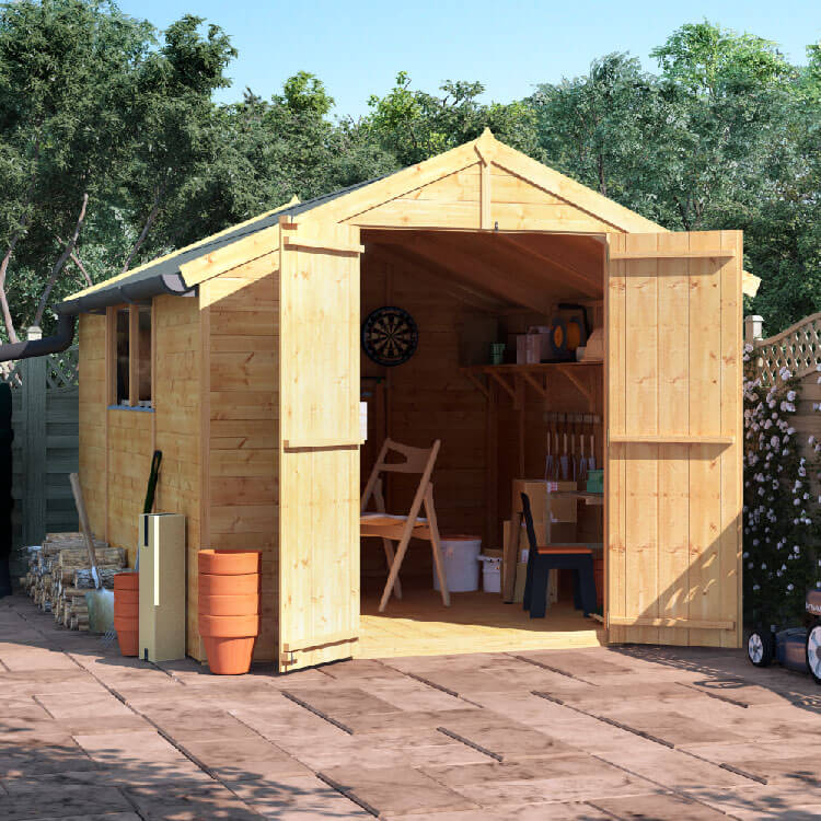 10x8 TG Apex Windowed BillyOh Master Garden Shed