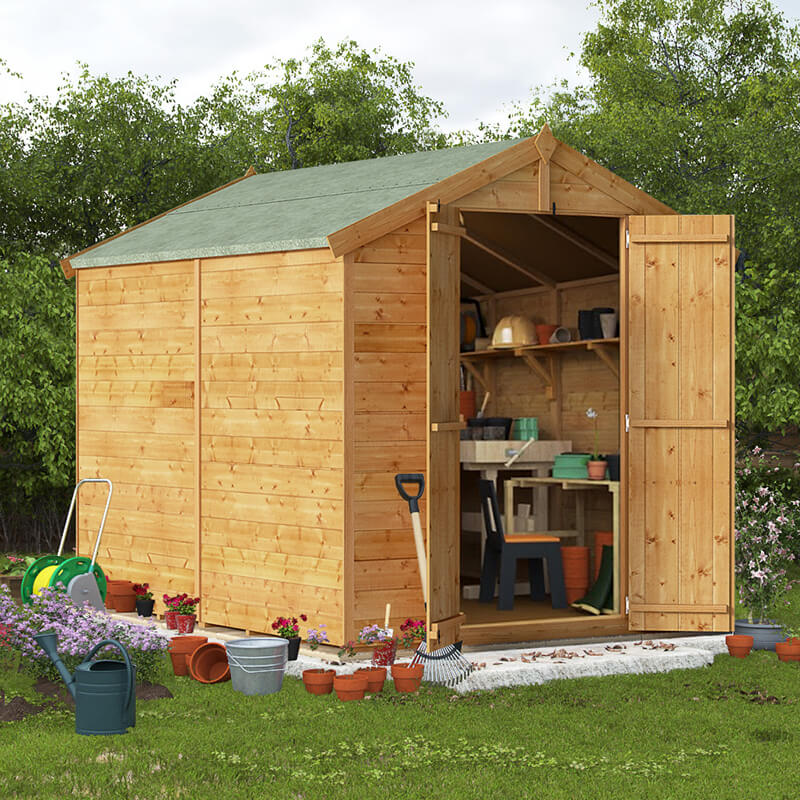 BillyOh 8 x 6 Master Tongue and Groove Apex Shed 6ft gables Windowless