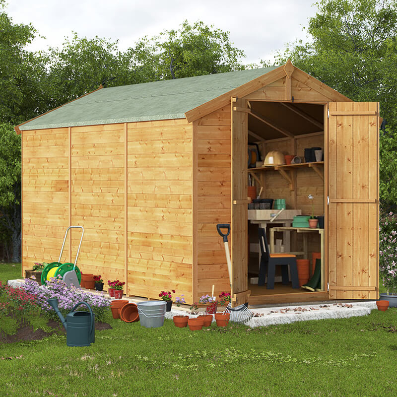 BillyOh 12 x 6 Master Tongue and Groove Apex Shed 6ft gables Windowless