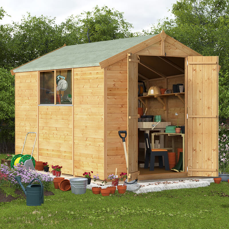BillyOh 10 x 6 Master Windowless Tongue and Groove Apex Shed 6ft gables Windowed