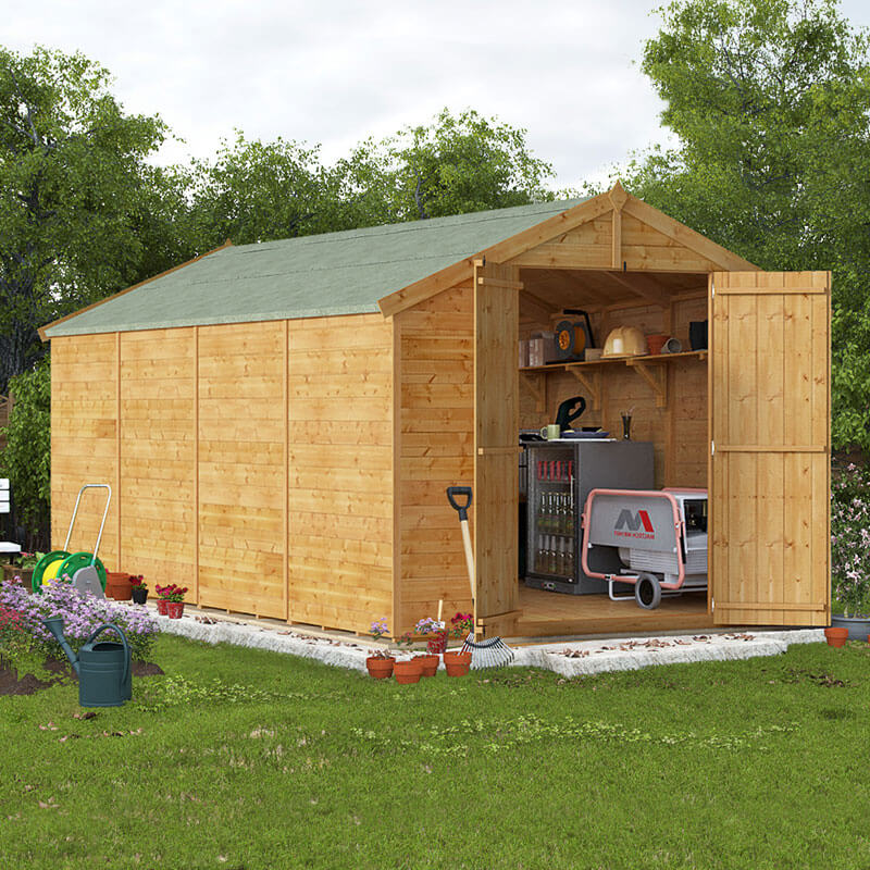 BillyOh 16 x 8 Master Windowless Tongue and Groove Apex Shed 6ft gables Windowless