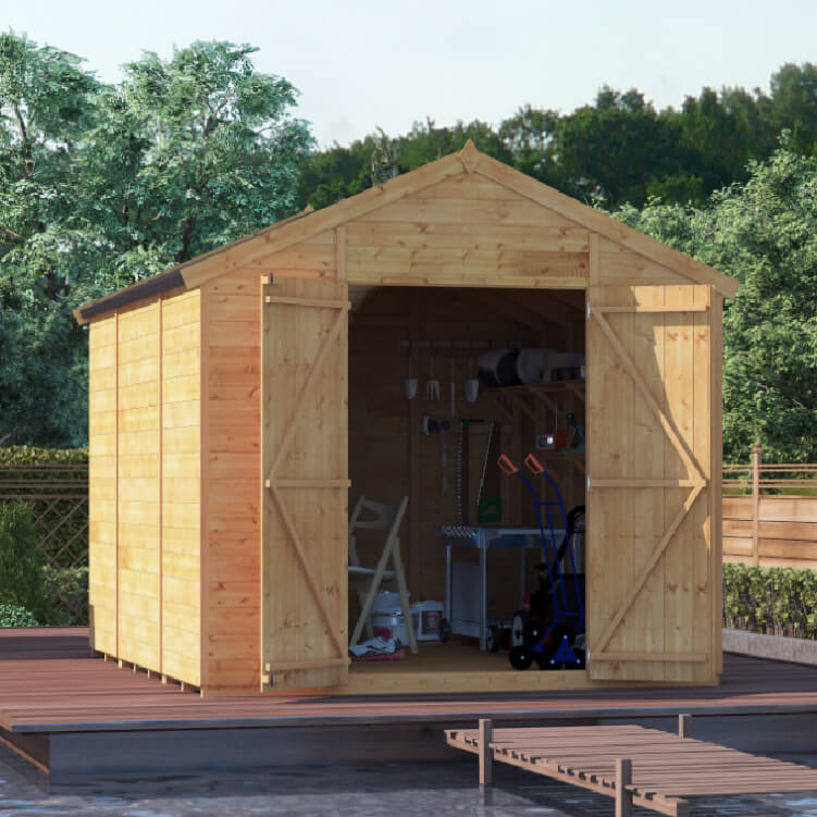 10x8 TG Apex Windowless BillyOh Expert Garden Shed