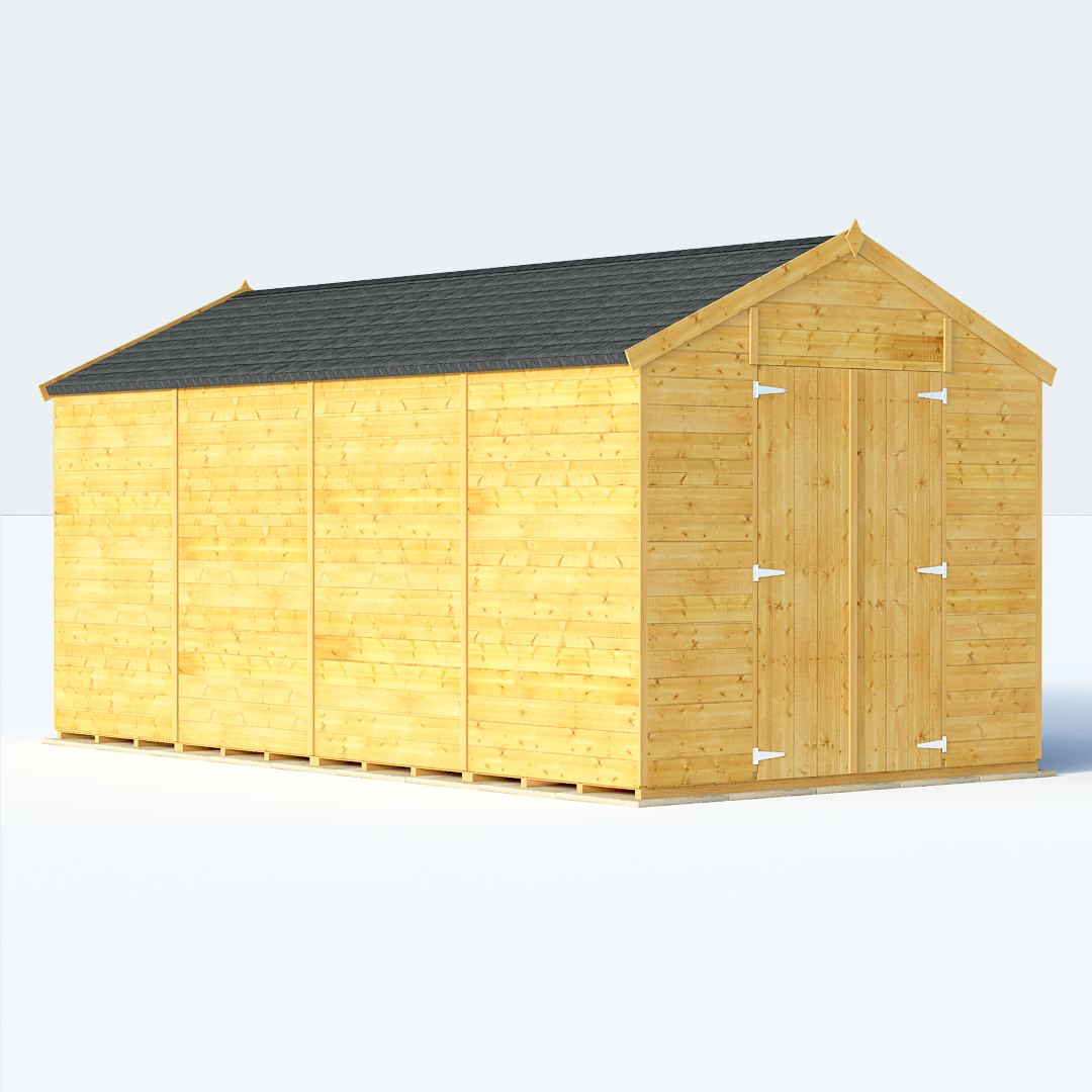 Sale on 16x8 t g apex windowless billyoh expert large for Large sheds for sale cheap