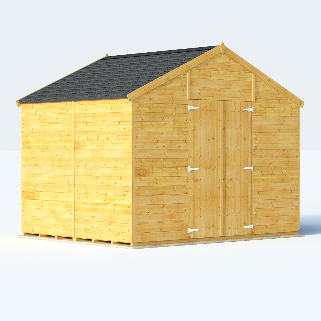 BillyOh 8 x 10 Expert Tongue and Groove Apex Windowless Garden Shed