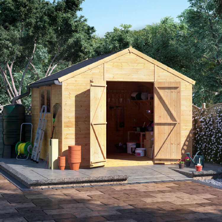 10x10 TG Apex Windowed BillyOh Expert Garden Shed