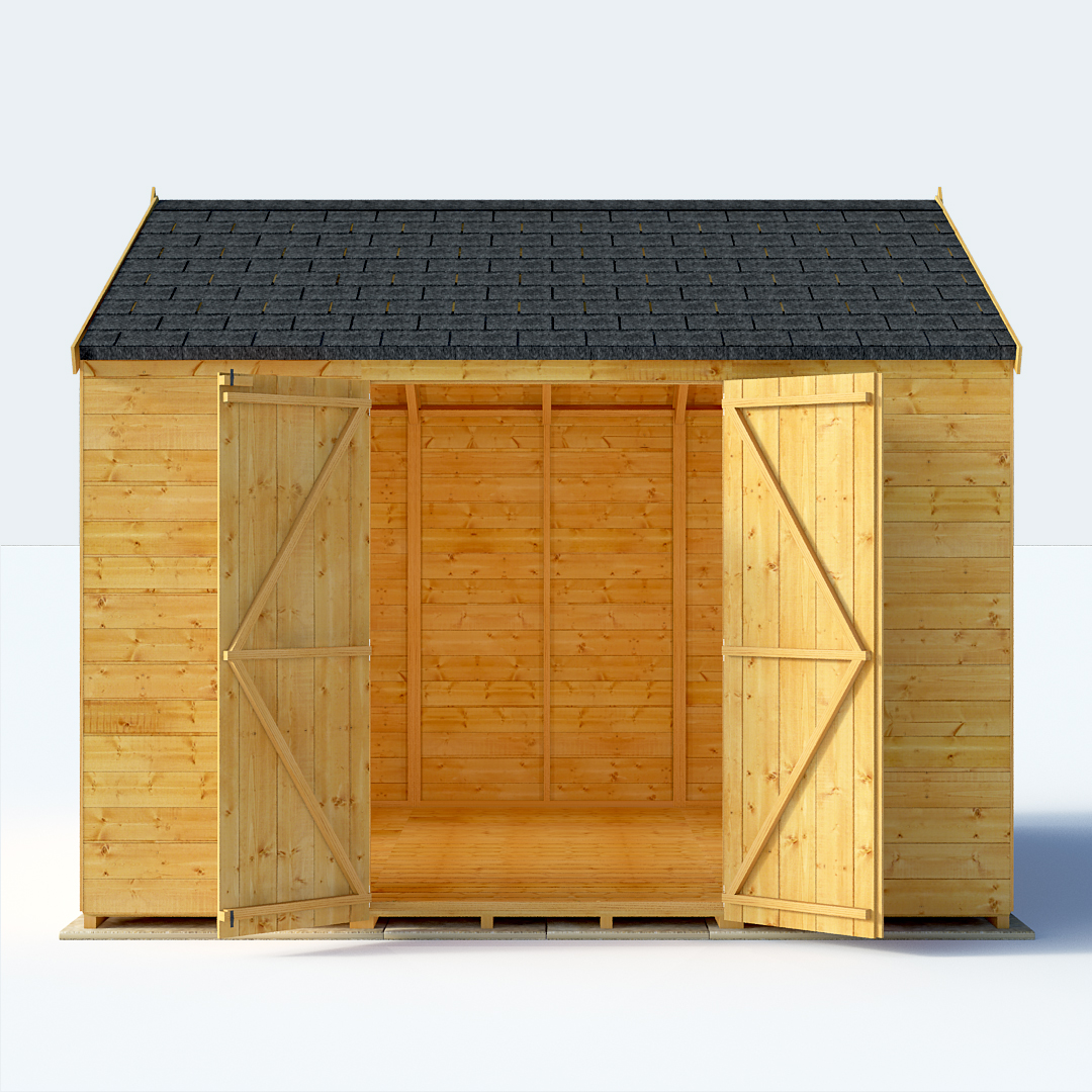 10x10 TG Reverse Apex Windowless BillyOh Expert Garden Sheds