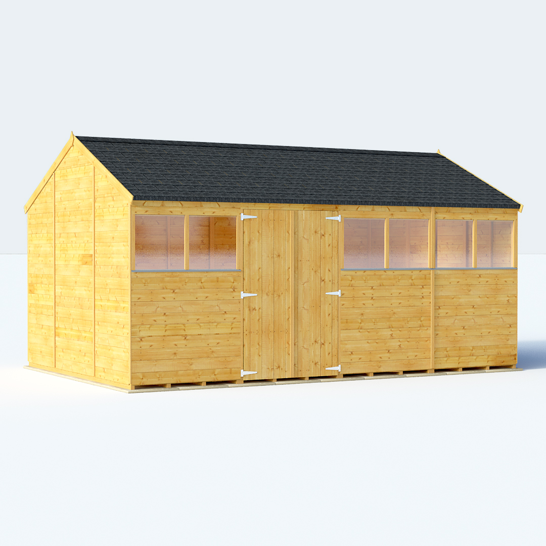BillyOh Expert Tongue and Groove Reverse Apex Shed 10ft gables