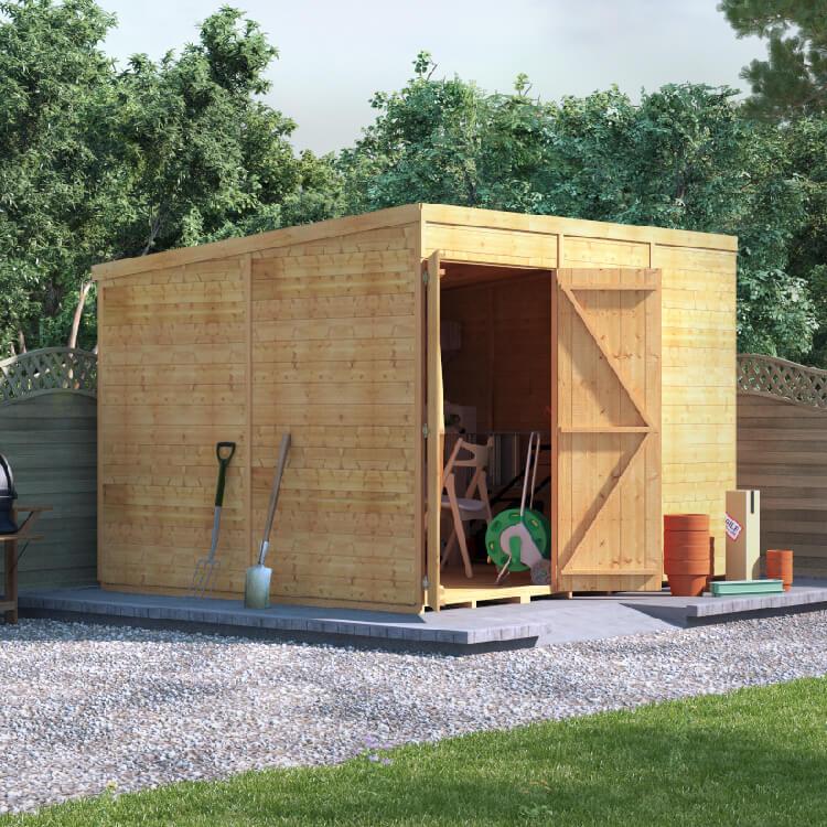 10x8 TG Pent Windowless BillyOh Expert Workshop Garden Shed
