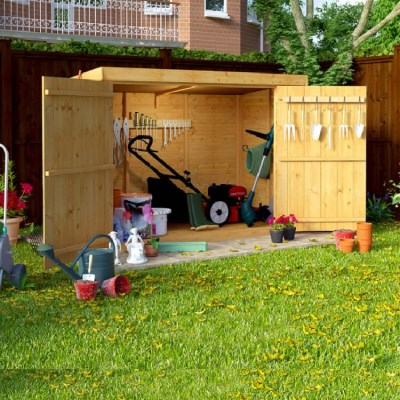 Wooden Bike Storage Shed Garden Bicycle Store Outdoor
