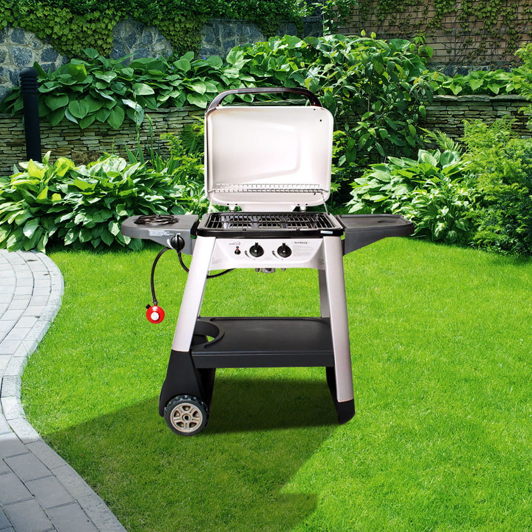 Click to view product details and reviews for Outback Excel 300 2 Burner Hooded Barbecue.