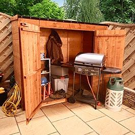 BillyOh Mega Store Tongue and Groove Pent Garden Storage Unit Inc Floor