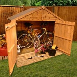 BillyOh Bike Shed Cycle Store Bicycle Storage Shed - 4'x6'