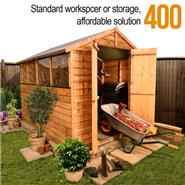 BillyOh Lincoln 400 Popular Overlap Double Door Apex Garden Shed