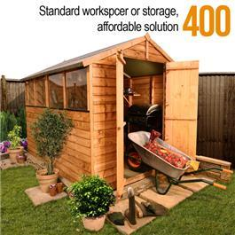 BillyOh Lincoln 400 Popular Overlap Double Door Apex Garden Shed - 12'x8'