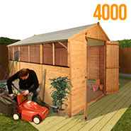 BillyOh Lincoln 4000 Popular Tongue and Groove Double Door Apex Garden Shed