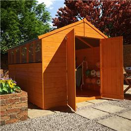 BillyOh Lincoln 4000 Popular Tongue and Groove Double Door Apex Garden Shed - 10'x8'