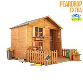 Mad Dash Wendyhouses - Peardrop Xtra Childrens Wooden Playhouse 6'x7'