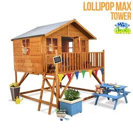 Mad Dash Wooden Playhouses - Max Tower Lollipop Childrens Playhouse 7'x8'