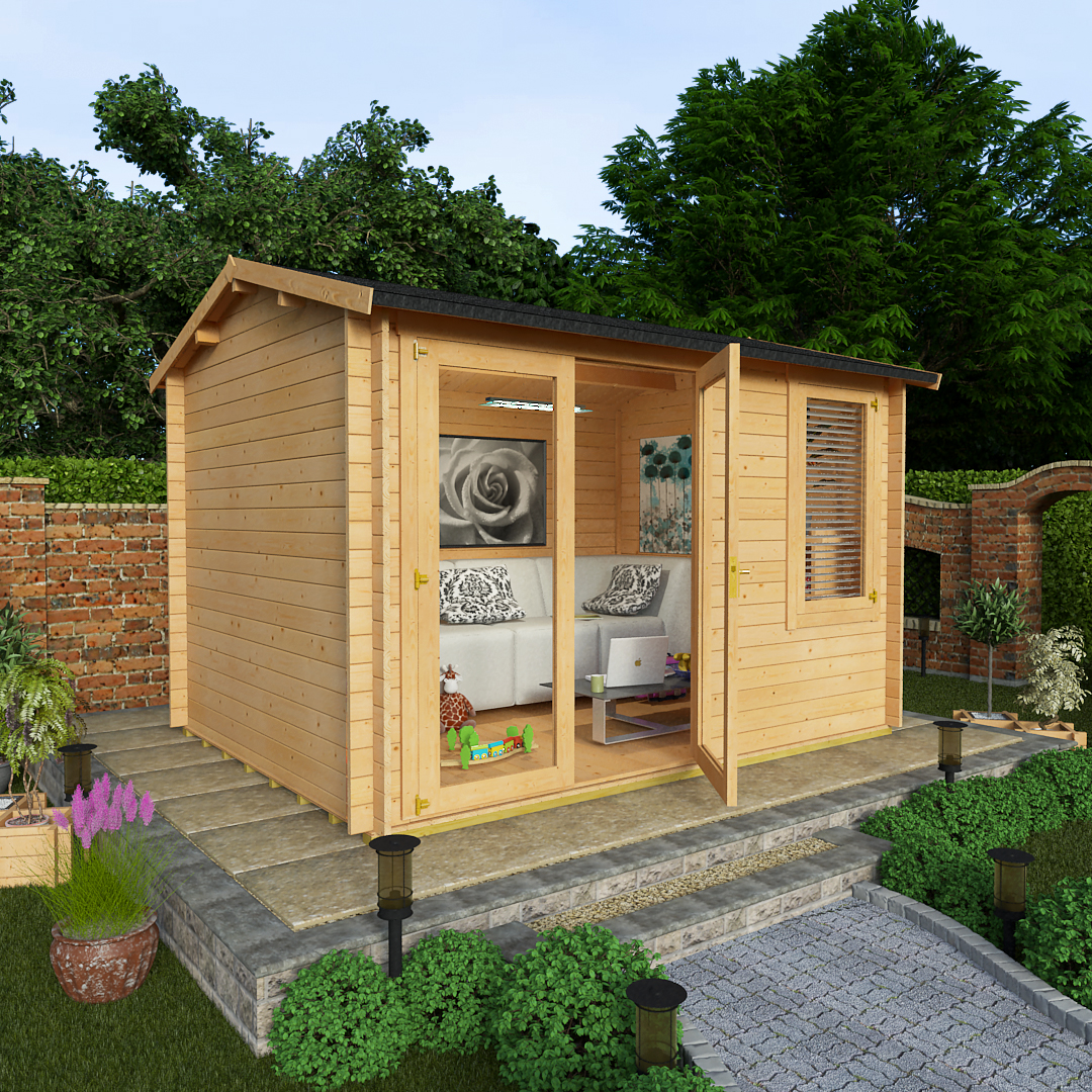 BillyOh 3.5 x 2.5 28mm Devon Garden Log Cabin