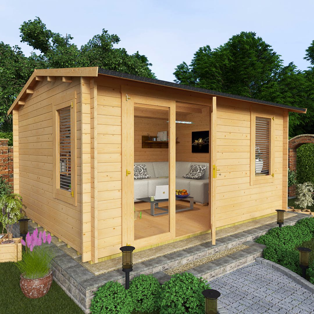 BillyOh 4.5 x 3.5 35mm Devon Garden Log Cabin