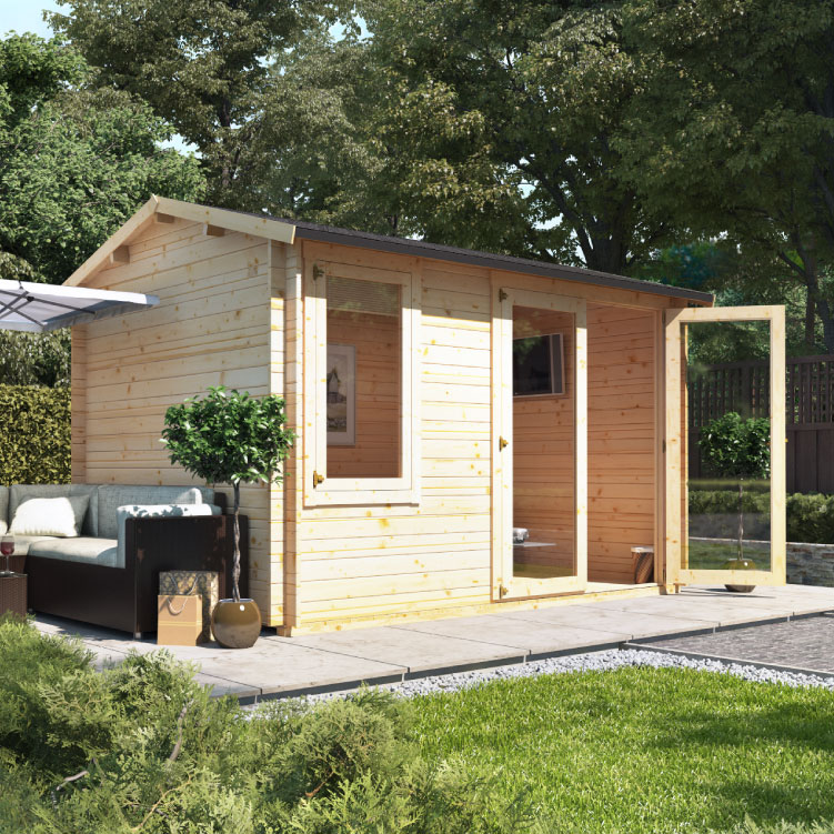 BillyOh Devon Log Cabin  - Devon W4.0m x D4.5m - Side Window
